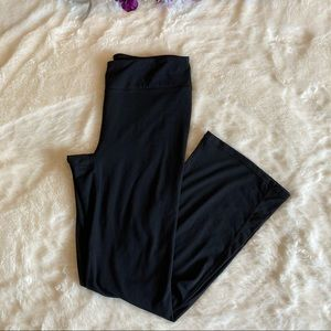 Gaiam Black Pull On Wide Leg Yoga Pants Sz M